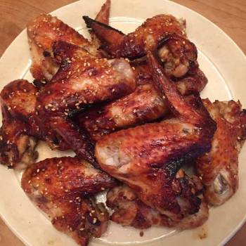 Chicken wings in Japanese style
