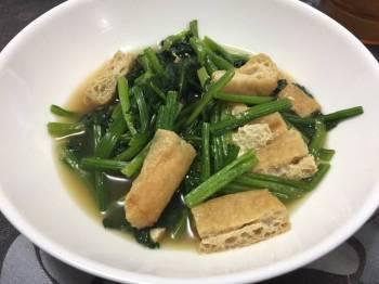 Stewed Spinach & Tofu puff