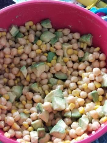 Chilean avocado, bean, and corn salad