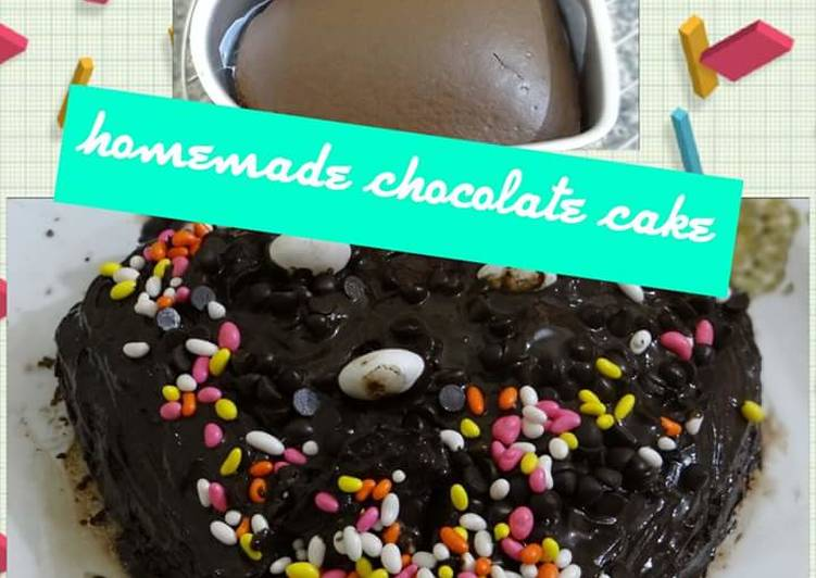 Homemade Eggless Chocolate Cake Without Condensed Milk Recipe By