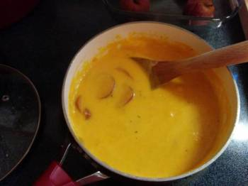 Butternut Squash Soup with Chicken or a Mild Sausage