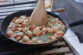 My Grilling Spot Scallop Stew
