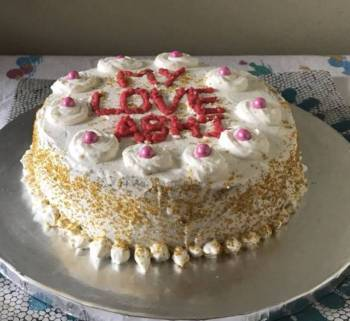 Vanilla (simple eggless cake recipe)