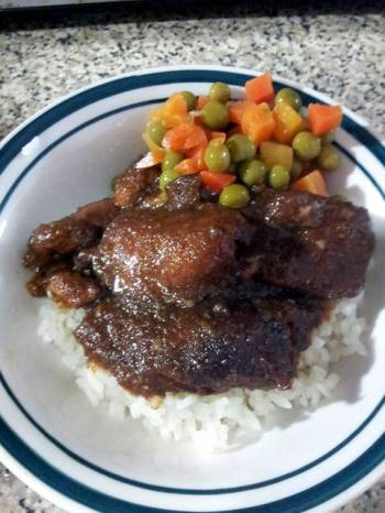 Crockpot Apple BBQ Chicken