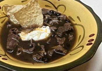 Steak and Black Bean Soup