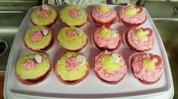 Exquisite Kuisines Strawberry-lemonade cupcakes