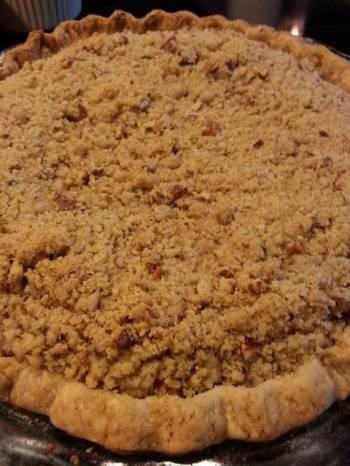 Streusel Topped Pumpkin Pie