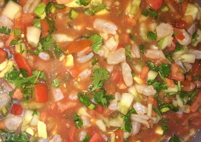 Mexican Style Shrimp Ceviche Recipe By Crabby Patties