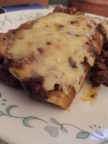 Beef Mole Enchiladas