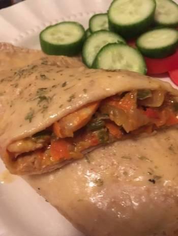 Shrimp Enchiladas with Vegetables