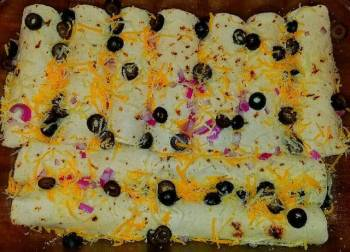 Mike's Seafood Spinach Enchiladas