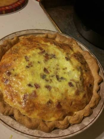 Fluffy Extra Cheesy Quiche Lorraine