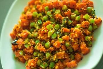 Beans - carrot Stir Fry