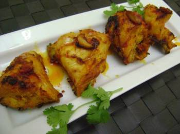 Grilled Chicken with Pickle Masala