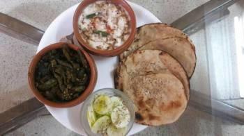 Kurkuri Bhindi with Boondi Raita and Tandoori Roti