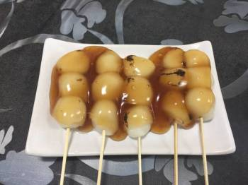 Japanese Mitarashi-Dumpling