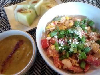 Blackened Corn and Shrimp Salad