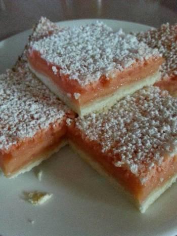 Strawberry lemonade bars