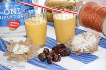 Mango Oatmeal Smoothie with Dates