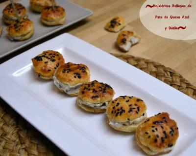 5 aperitivos muy fáciles y rápidos para Navidad - Receta de hojaldritos de queso azul y dátiles