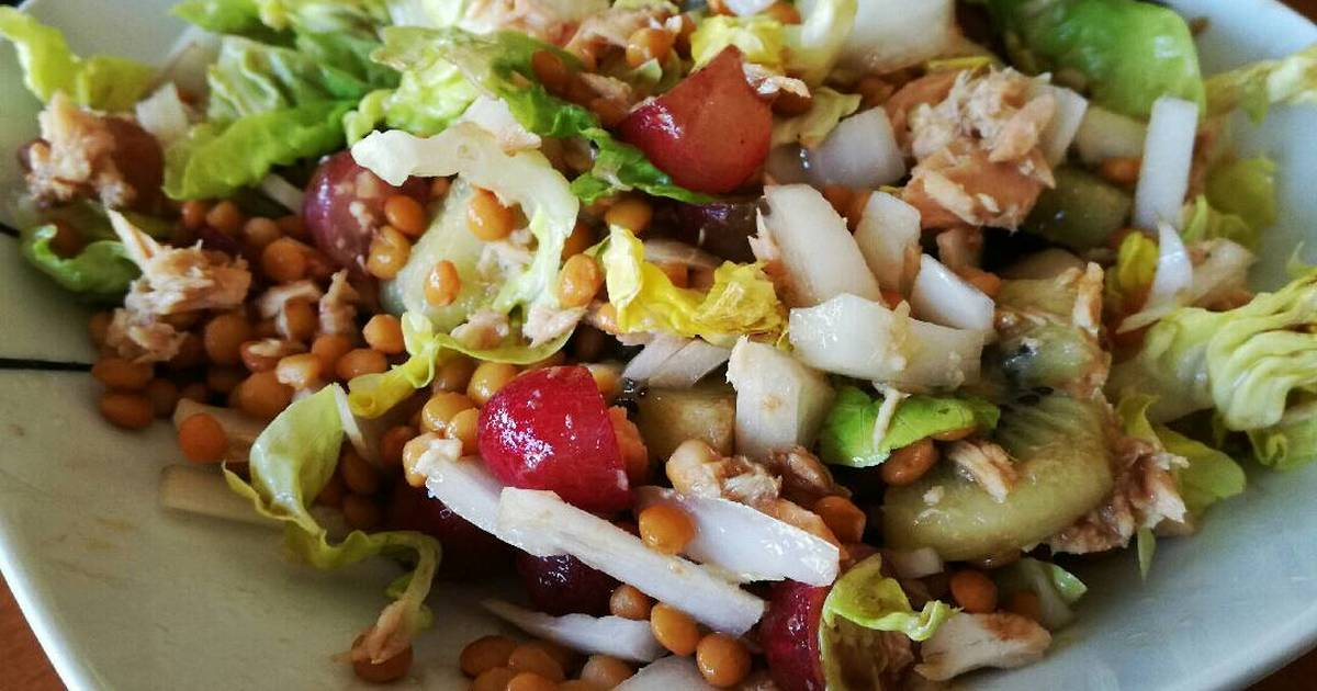 Ensalada de lentejas  98 recetas caseras  Cookpad