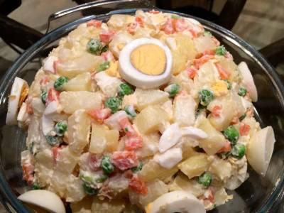 Receta de ensalada rusa clásica