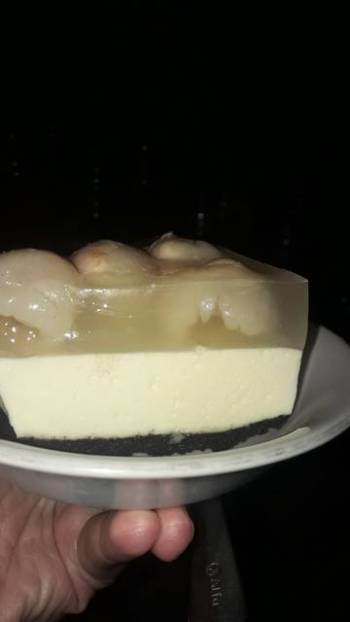Cheesecake pudding leci