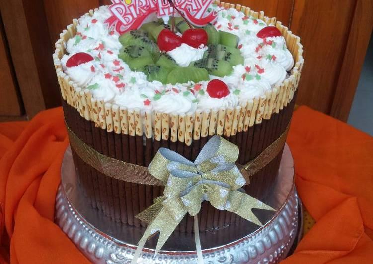 Resep Pocky Bday Cake Tiramisu Egg Drops Mixed Spongecake Chocolate