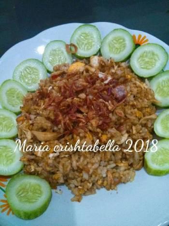 Nasi goreng sambal terasi(ayam suir)