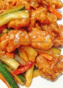 Resep Ayam Saus Asam Manis : resep, manis, Resep, Manis, Masakan, Mudah