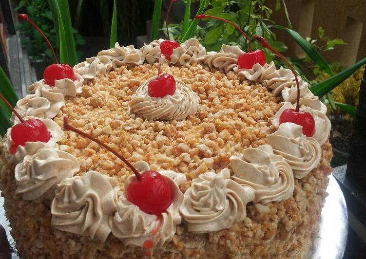 Resep Mocca Nougat Bday Cake Oleh Dewa Ayu Paontaksu At 2016 Cookpad