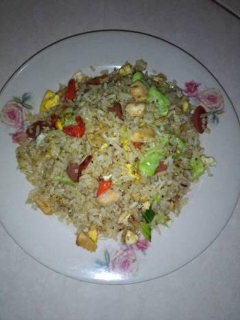 Day 29 : Nasi goreng komplit bumbu cincang (menu sahur)