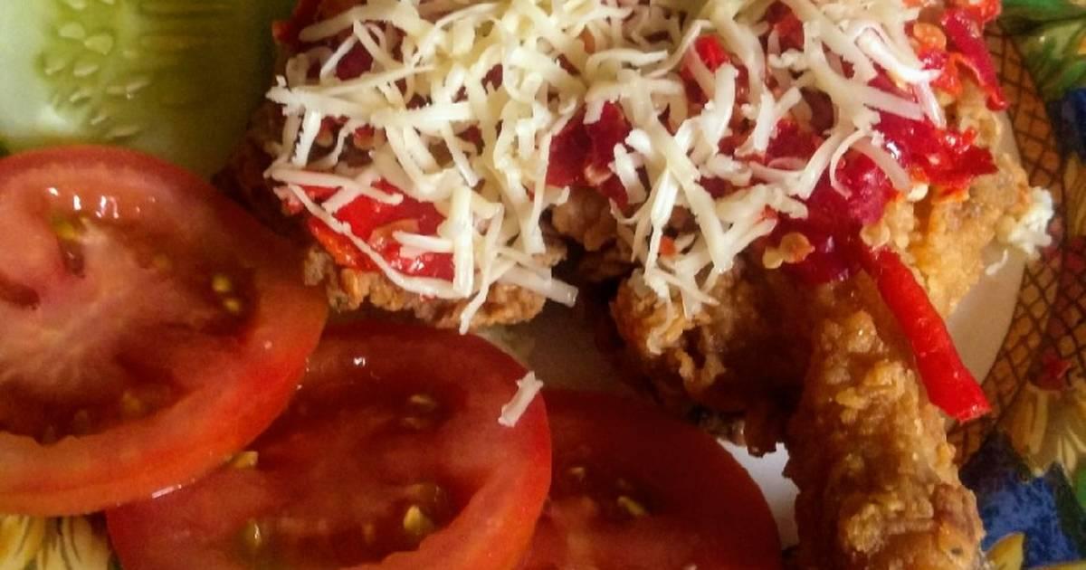 143 resep ayam geprek keju enak dan sederhana  Cookpad