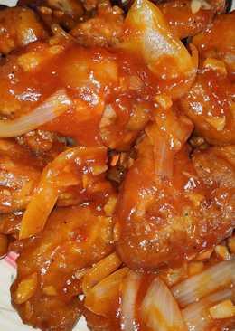 Resep Ayam Pedas Manis : resep, pedas, manis, Resep, Manis, Pedas, Masakan, Mudah