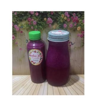 Diet Juice Dragon Fruit Pomegranate Okra Blackcurrant