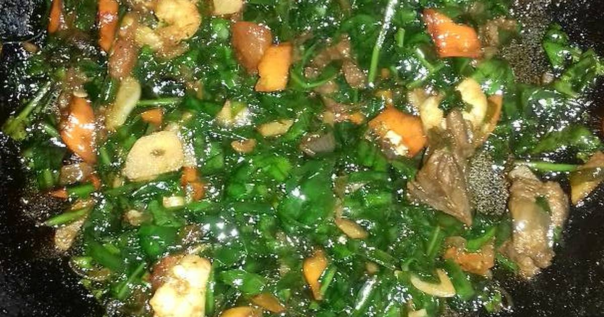 Resep Oseng daun melinjo udang daging oleh Yuyun  Cookpad