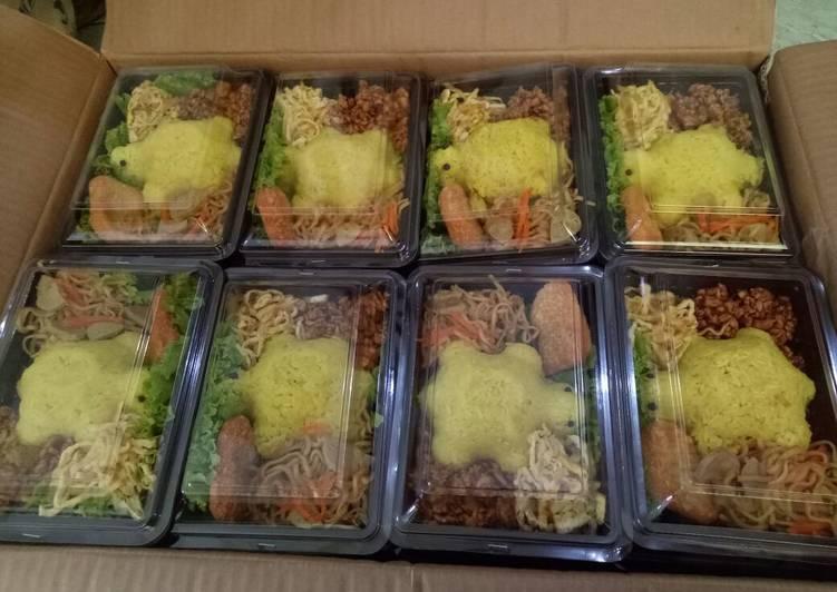 Resep Nasi kuning box untuk anak TK oleh Fira Firdiana
