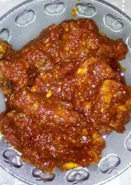 Resep Ayam Bumbu Merah : resep, bumbu, merah, Resep, Merah, Masakan, Mudah