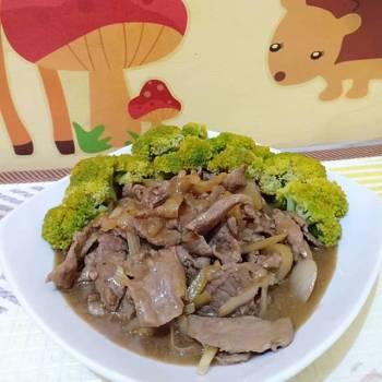 Tumis Sapi Brokoli (gurih)