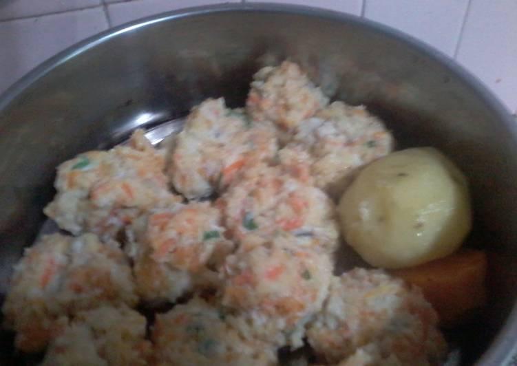 Resep MPASI  1 tahun keatas Siomay Ikan Cucut Mix Wortel