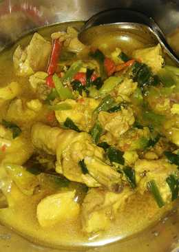 Resep Ayam Kuah Kuning : resep, kuning, Resep, Kuning, Tanpa, Santan, Masakan, Mudah