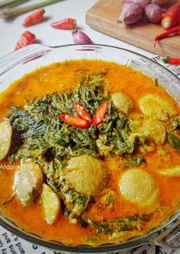 Resep Daun Singkong Padang : resep, singkong, padang, Bumbu, Masak, Singkong, Padang, Memasak