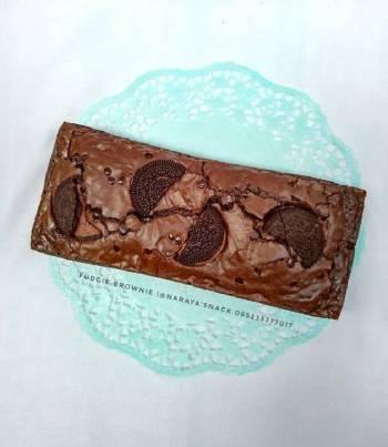 Fudgie brownie / brownis panggang shinny crust