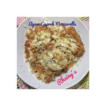 Ayam Geprek Mozzarella (tanpa sambal)