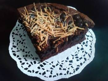 Brownies Coklat Topping Keju
