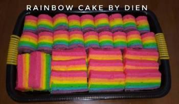 Rainbow Cake kukus Ny.Liem #BikinRamadanBerkesan