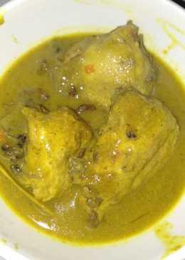 Resep Ayam Santan : resep, santan, Resep, Bumbu, Kuning, Santan, Masakan, Mudah