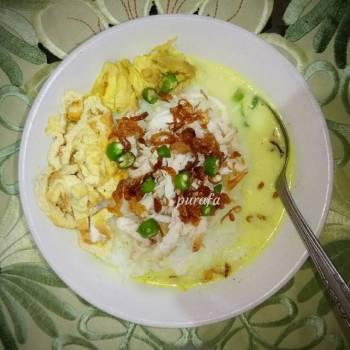Bubur ayam kuah (Chicken Porridge)🐓🐔