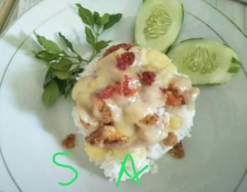 Ayam Geprek Mozzarella (simple)