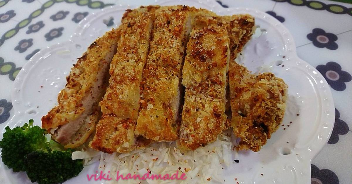 日式炸豬排~氣炸食譜 by Viki自由揮灑kitchen - Cookpad